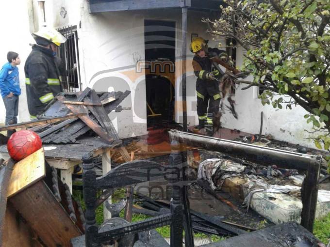 Urgente: Principio de incendio en una vivienda de Urdampilleta