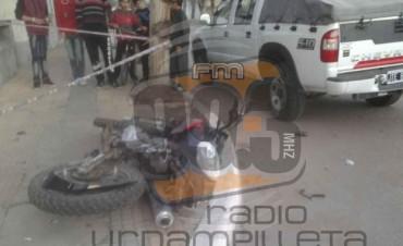 Un joven hospitalizado a raíz de un accidente de tránsito