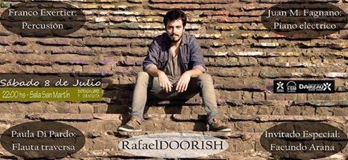 El músico local Rafael Doorish se hará presente en la Sala 'San Martín' de Daireaux