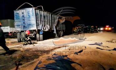 Ruta 65: Volcó un camión en jurisdicción Urdampilleta