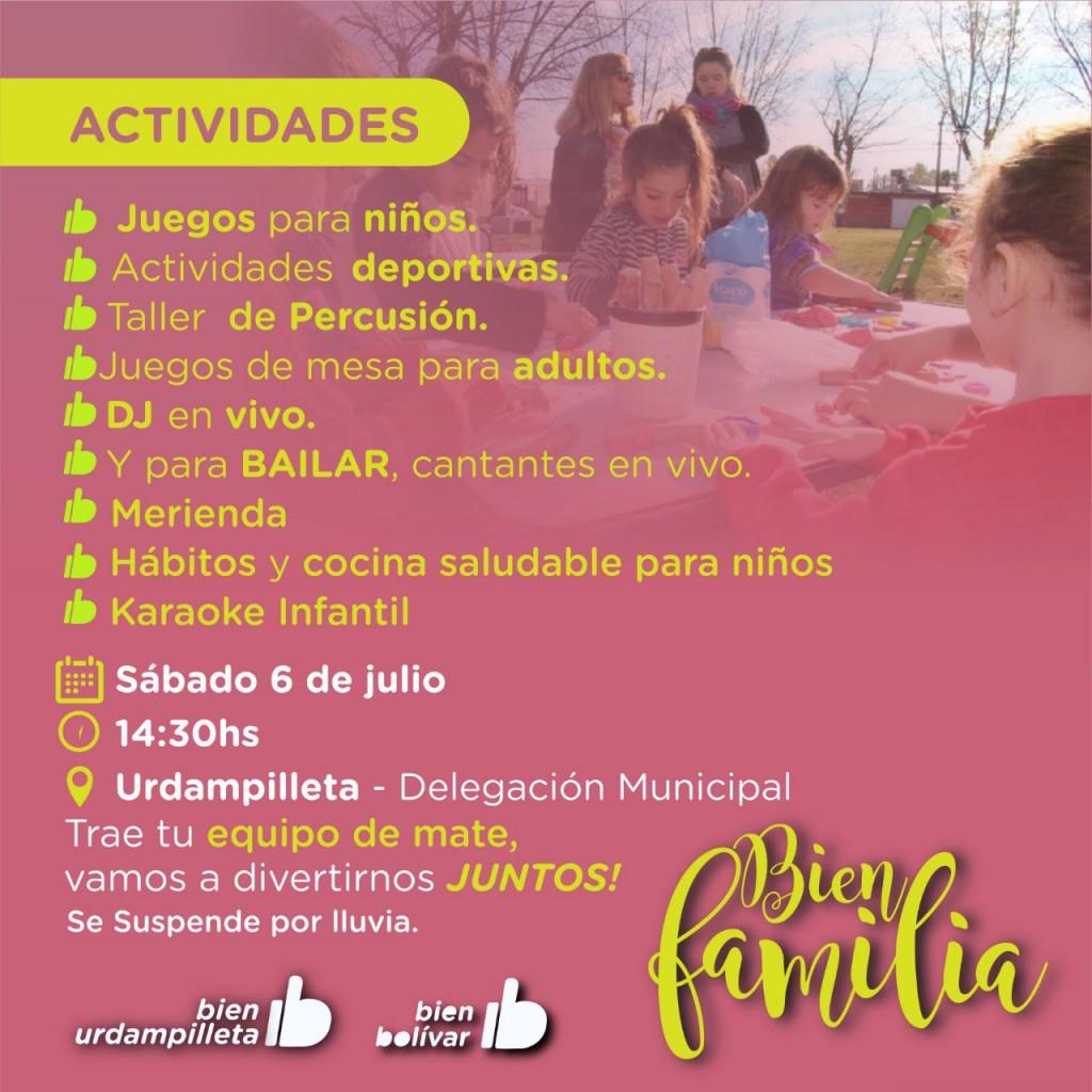 El programa municipal Bien Familia llega a Urdampilleta