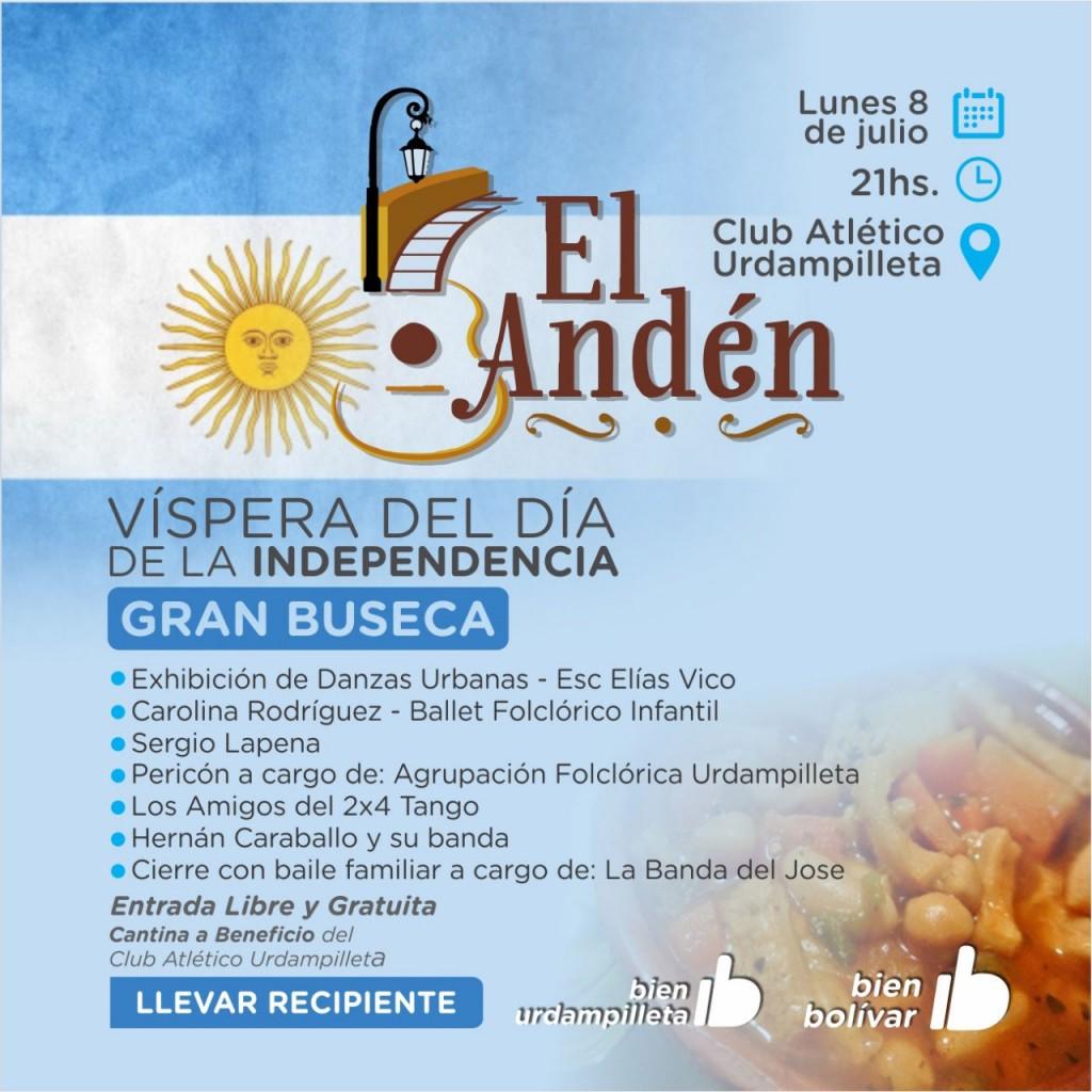 La Peña El Anden llega el CAU en la previa del Día de la Independencia