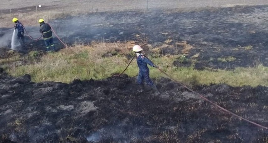 Bomberos de Pirovano; Salida por quema de pastizales sobre banquina
