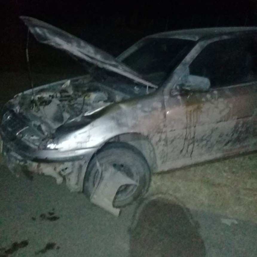 Bomberos Pirovano; Salida por impacto de una automóvil con un vacuno