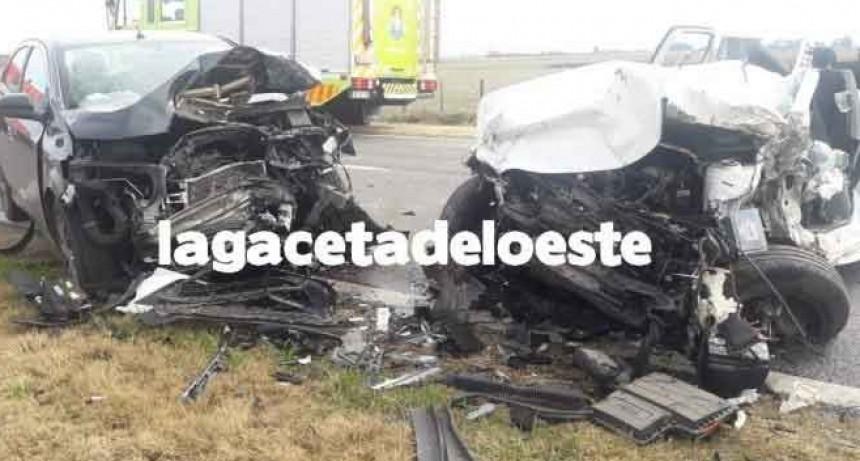 Alberti: Múltiple choque en Ruta 5; una hombre de La Plata perdió la vida