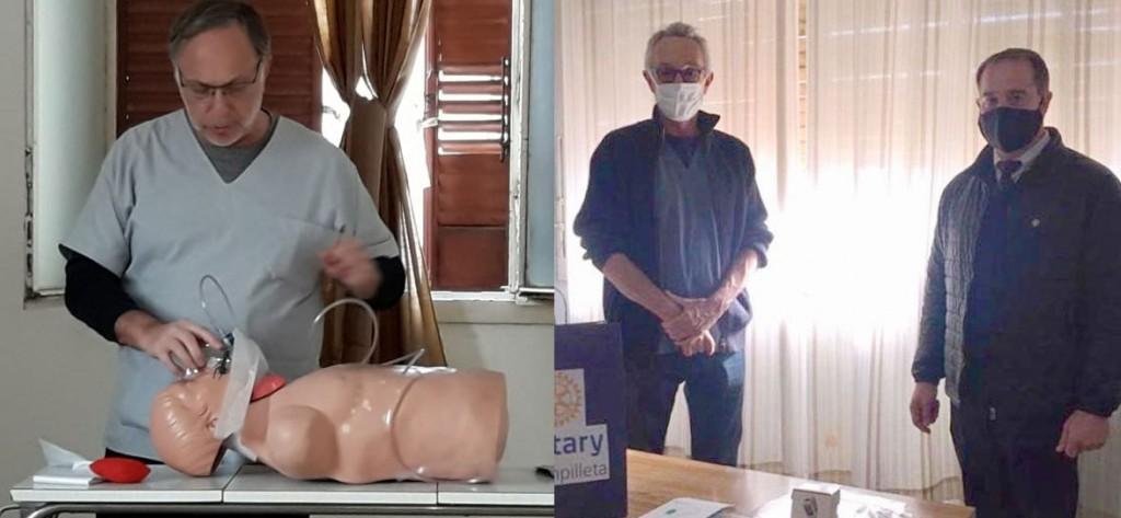 El Hospital local sigue creciendo en pos de la salud de la localidad; El Rotary entregó insumos y el Dr. Maluendez brindó una importante capacitación