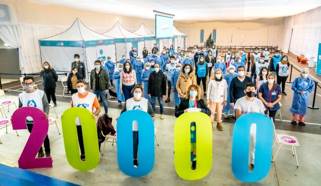 Se superaron los 20 mil vacunados este viernes