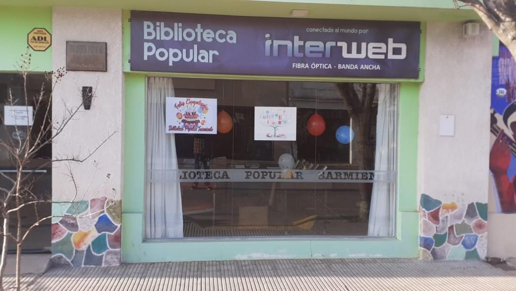 La Biblioteca Popular Domingo Faustino Sarmiento cumplió 88 años y Luís Rodríguez hizo referencia en Radio Urdampilleta