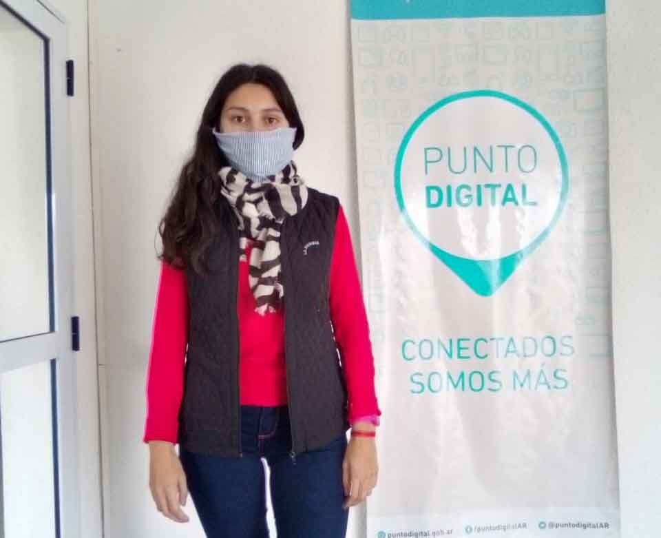 """Micaela Chiminella: """"Muy contenta de poder trabajar en este receso invernal con los chicos en Punto Digital"""""""