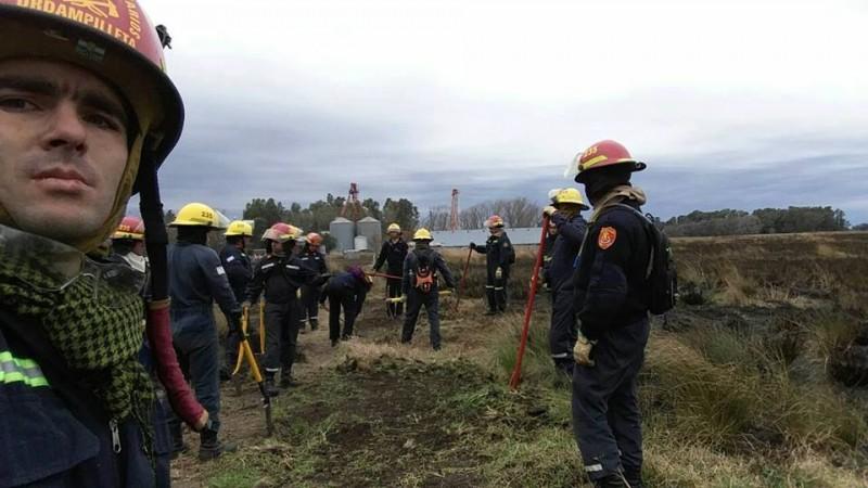 Bomberos Voluntarios de Urdampilleta realizaron una Capacitación de Incendios Forestales