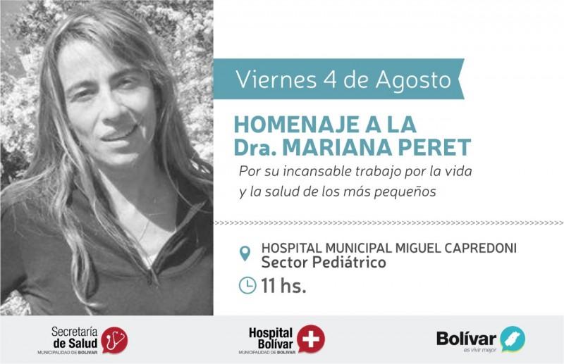 El hospital de Bolívar le rinde homenaje a la Pediátra Mariana Peret