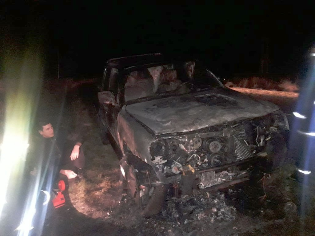 Se incendio una camioneta: Su conductora resultó ilesa