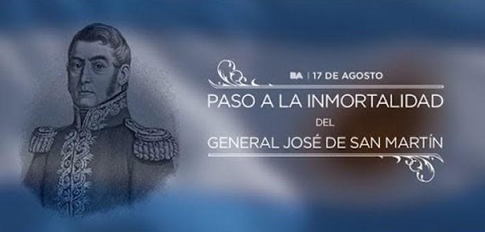 1850- 17 de Agosto- 2020; Homenaje al Gral. Jose de San Martin en el 170° aniversario de su paso a la inmortalidad