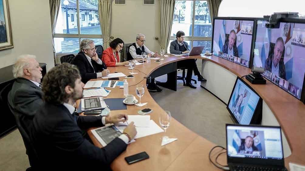 Alberto Fernández analizará la situación sanitaria con los gobernadores