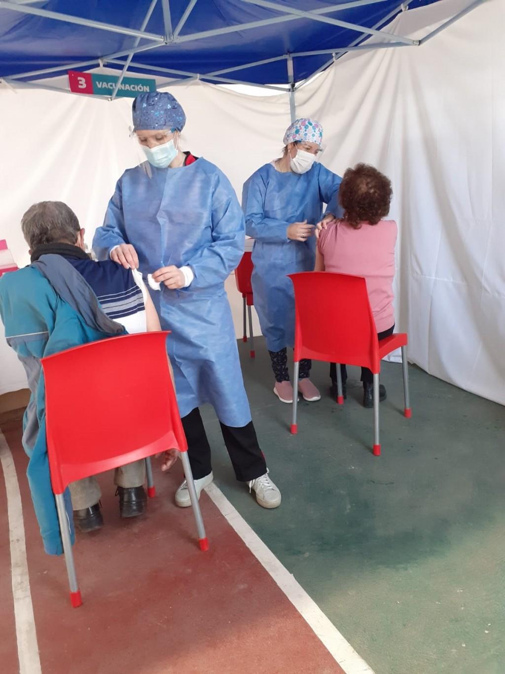 Este sábado, se desarrolló una nueva jornada de vacunación en Urdampilleta
