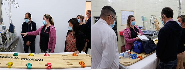 Pisano inauguró junto a personal del hospital, la nueva sala de Shock Room