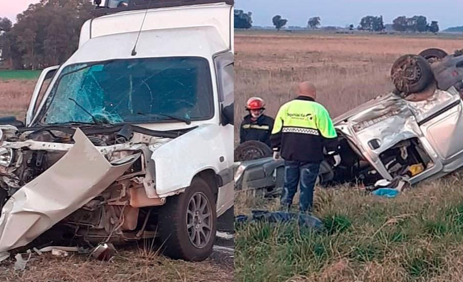 Dos conductores no radicados en Bolívar protagonizaron un accidente que generó el intenso trabajo del equipo emergente de la ciudad de Bolívar