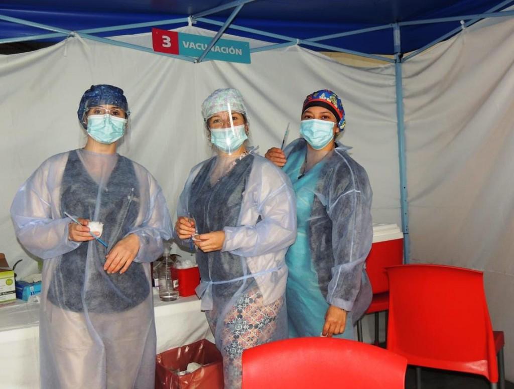 Fueron 239 las personas vacunadas en Urdampilleta este sábado