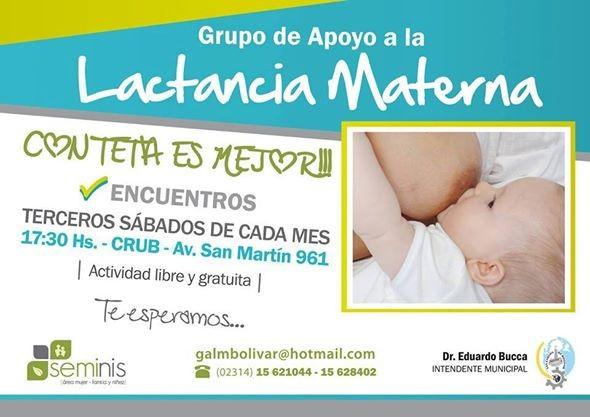 Se llevará a cabo un nuevo encuentro de Apoyo a la Lactancia Materna
