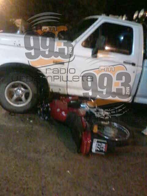 Un motociclista fue hospitalizado y luego trasladado a Bolívar, para mayores controles