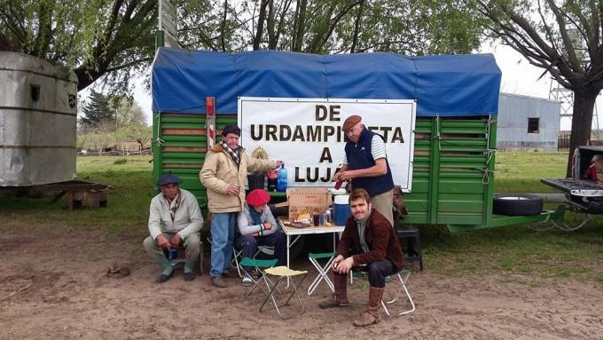 El segundo grupo de 'Gauchos Peregrinos' camino a Luján