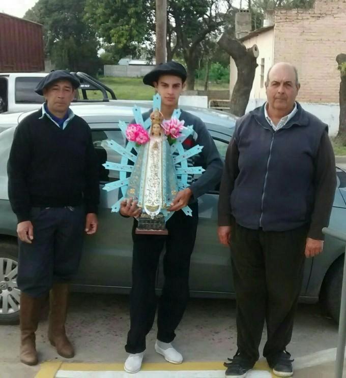 Entronización nuevamente la Virgen de Luján en el hospital de Urdampilleta