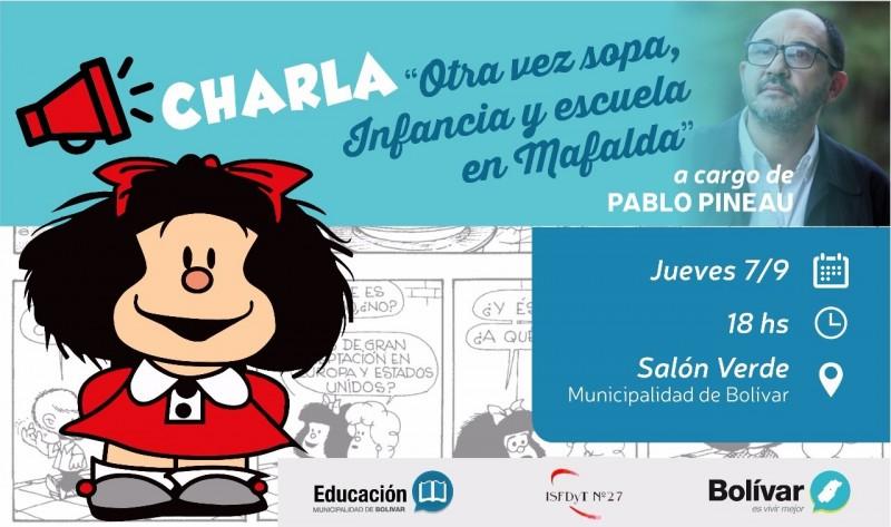 Se dicta una charla para docentes a cargo de Pablo Pineau