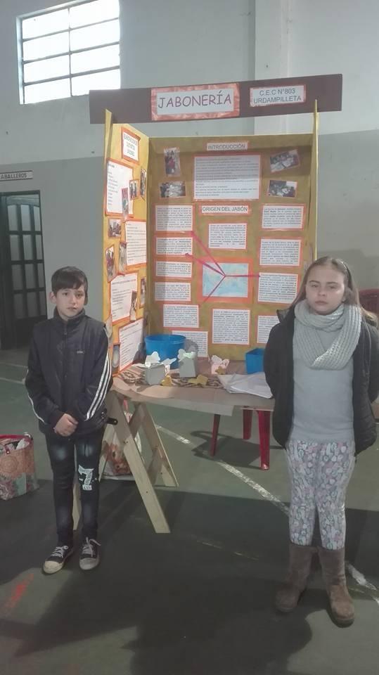 Proyecto de Jabones del CEC 803: Recibió 'Mención Especial' en la Feria de Ciencias en Azul