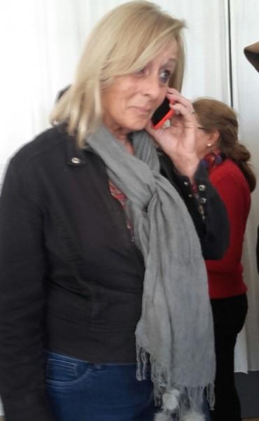 Sciartilli como pionera del proyecto de 'Bicisenda', se hizo presente en el anuncio de su extensión con nuevas luminarias