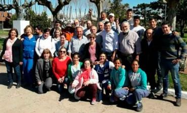 El Intendente Bucca compartió el almuerzo con los empleados Municipales