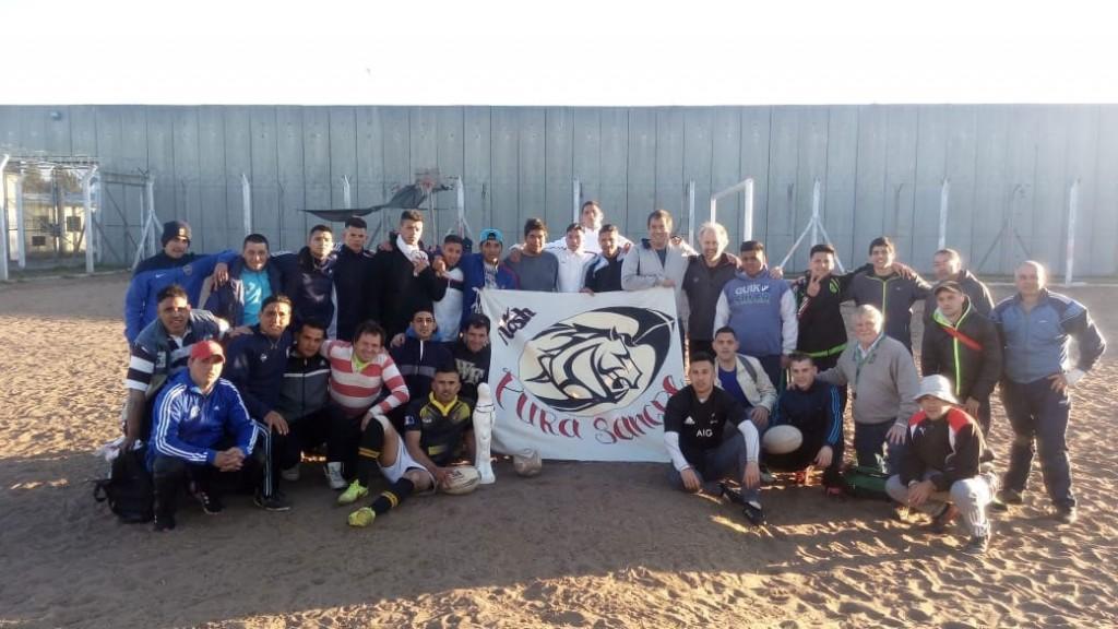 Se desarrolló una importante jornada de rugby en el campo de deportes de la Unidad Penal N° 17