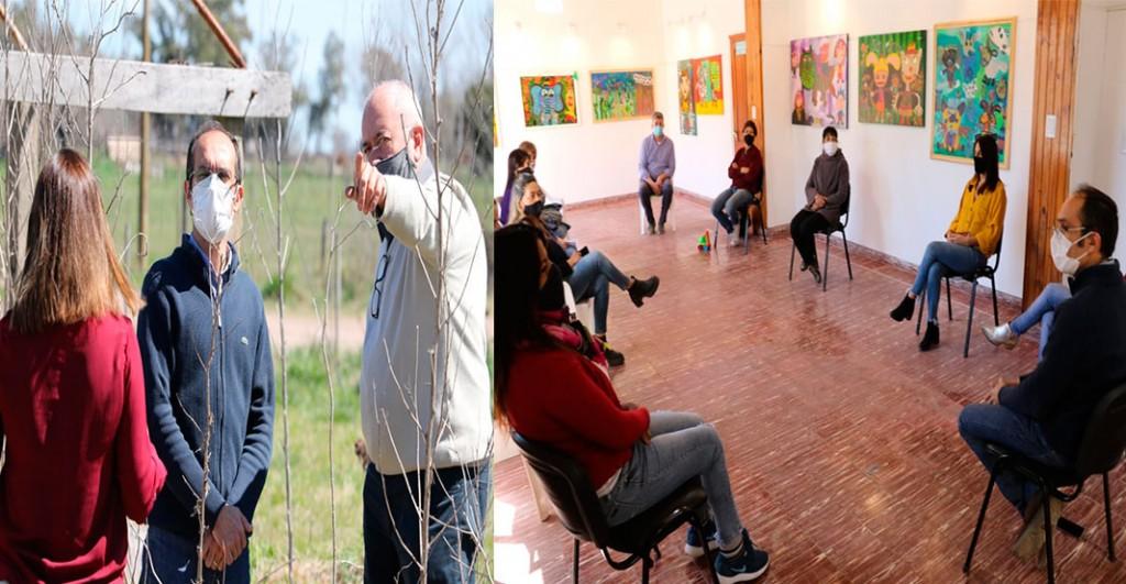 Pisano se reunió por varias iniciativas en la localidad