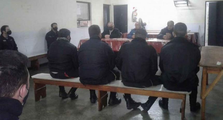 Unidad 17; Jornada de trabajo con el jefe y el Secretario del Complejo Penitenciario Centro Zona Sur