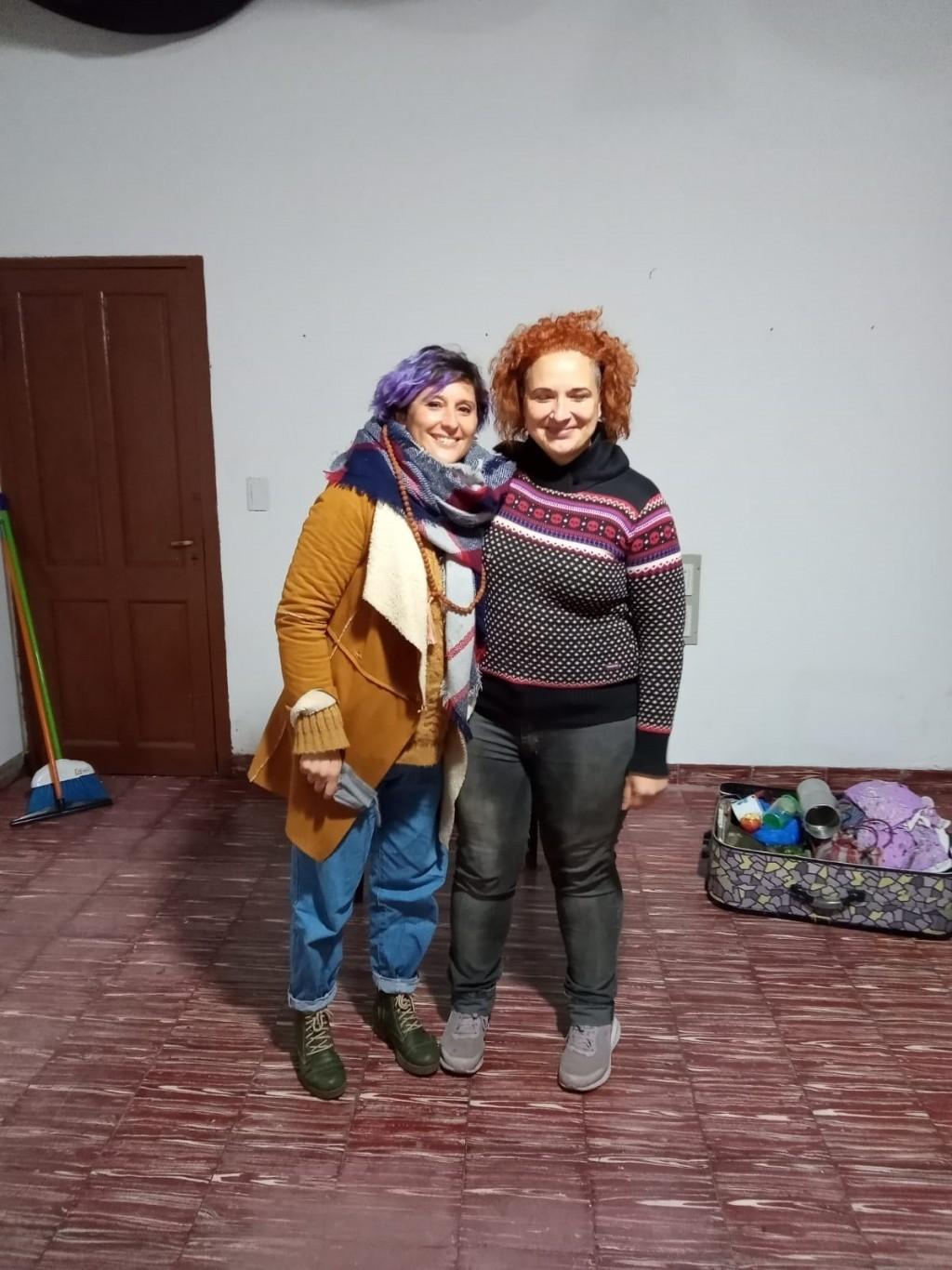 Lorena Mega y Nadia Marchione presentaron 'El Duelo' en Urdampilleta