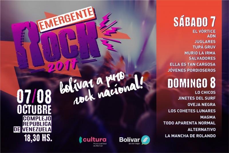 Se viene el Emergente Rock 2017