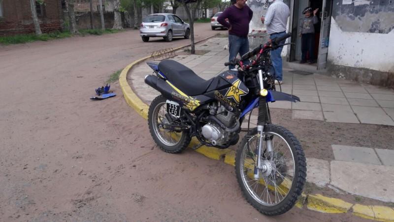 Accidente con un motociclista hospitalizado