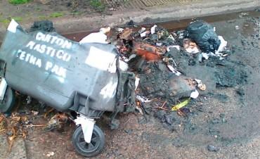 Vandalismo en Roca y Las Heras: El Municipio repudia la destrucción de otro contenedor