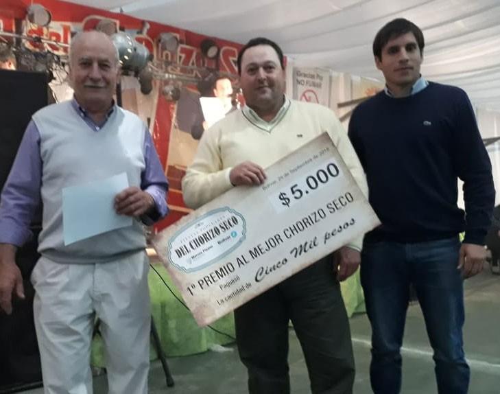 Miguel Ángel Rosello de Daireaux fue el ganador de la Fiesta del Chorizo seco en Pirovano