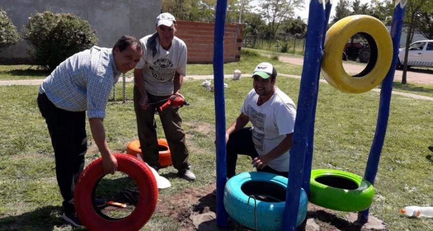 Se realizo el emplazamiento de juegos realizados por el CAJ en el Parque Aureano