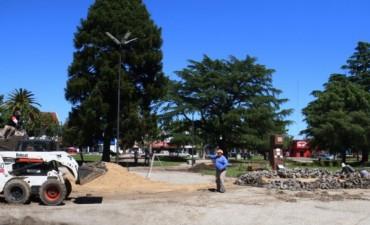 Comenzó la obra de puesta en valor de la Plaza Mitre