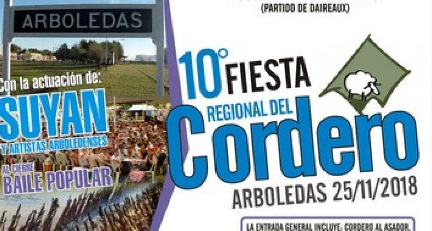 El próximo domingo 25 llega la edición N.° 10 de la tradicional Fiesta del Cordero en Arboledas