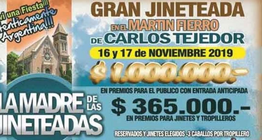 La Madre de las Jineteadas llega este fin de semana a Carlos Tejedor