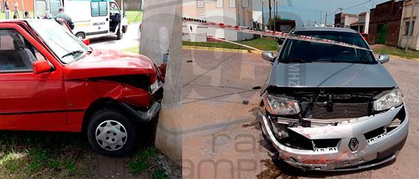 Dos conductoras protagonizaron una colisión