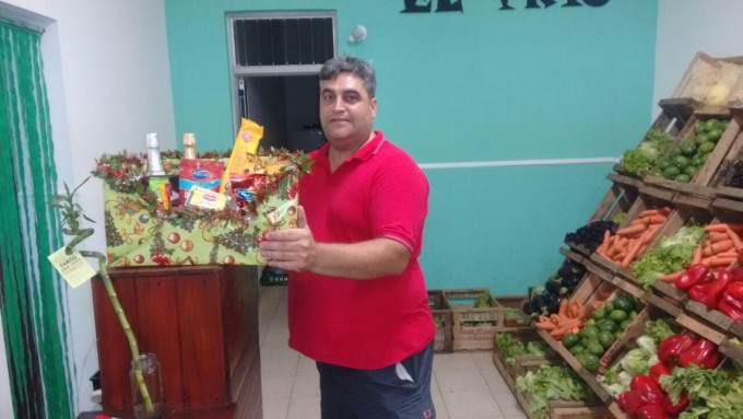 'Fruteria y Verduleria El Trío' dio a conocer el ganador de la canasta navideña