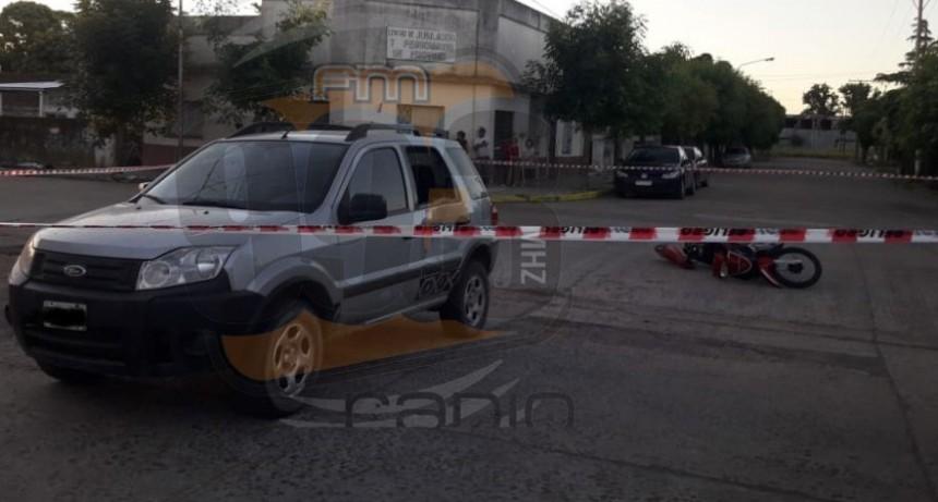 Pirovano: Impacto en Sebastiano y Aizaguer; una motociclista fue derivada al nosocomio a modo preventivo