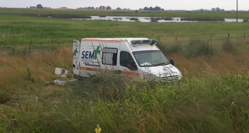 Despiste de ambulancia en ruta 65