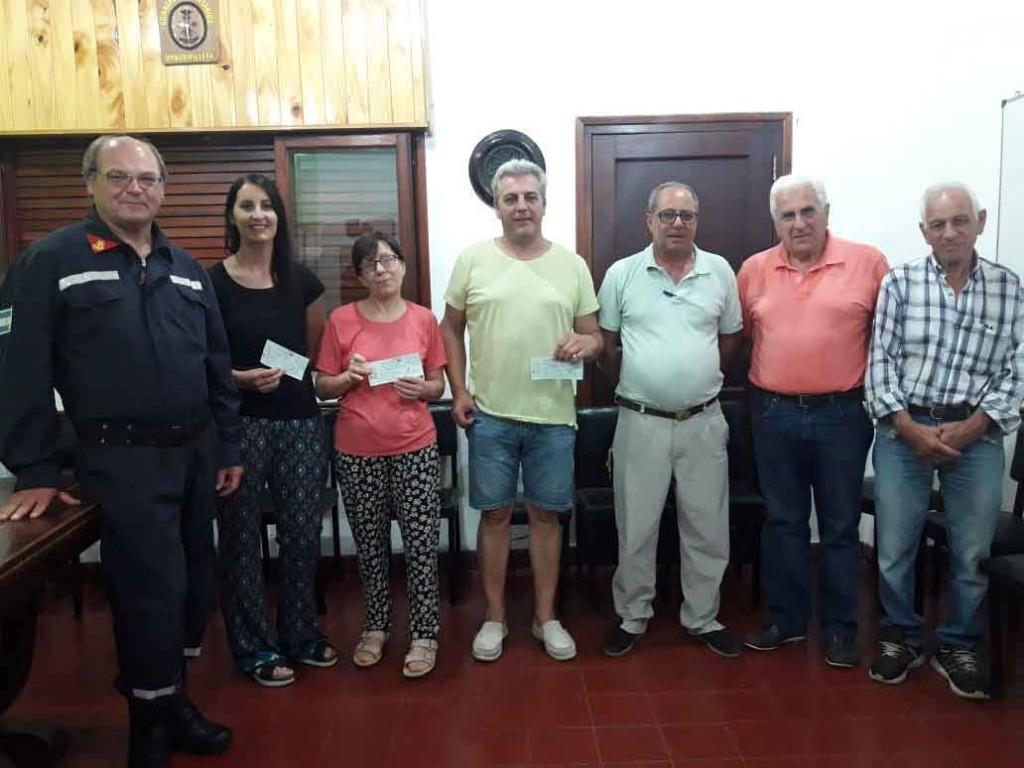 Se entregaron los premios de la Rifa anual de Bomberos Voluntarios