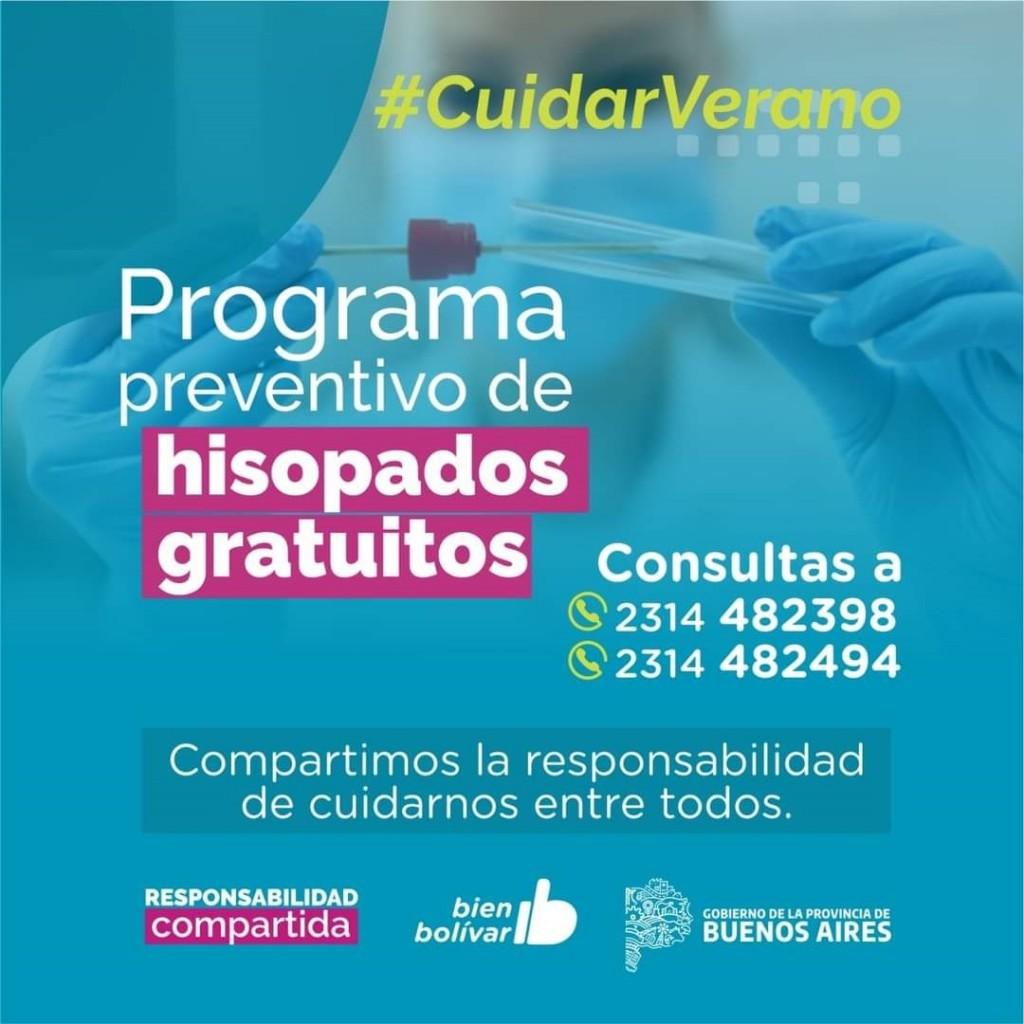 Se realizarán hisopados gratuitos para quienes ingresen al partido de Bolívar en verano