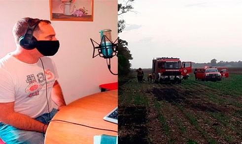"""Javier Carona: """"Fue una jornada intensa con el incendio forestal y la emergencia en dos viviendas"""""""